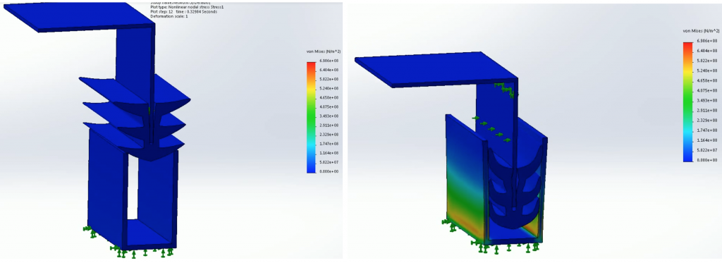 Hyperelastic simulation of a facade joint seal