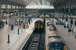 Train pulling up to Train Station - Jehbco Silicones